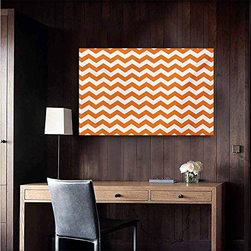 duommhome Chevron Light Luxury American Oil Painting Halloween Pumpkin Color Chevron Traditional Holidays Autumn Season Celebrate Home and Everything 20