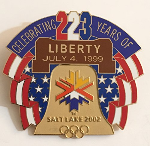 (Patriotic American Liberty Bell 1999 Fourth Of July Salt Lake City 2002 Winter Olympics Pin LE 927/1000)