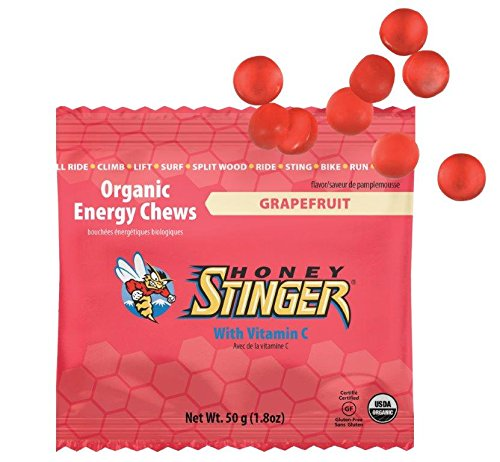 Honey Stinger Organic Energy Chews, Grapefruit, 1.8 Ounce (Pack of 12)