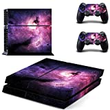 Cheap SKINOWN Sticker Skin Decal Cover for Sony PS4 PlayStation 4 Console and Controller – Universe Sky