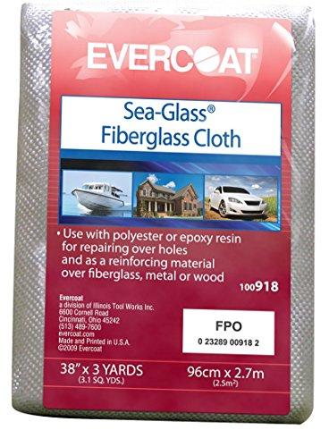 "Evercoat 100918 38"" X 3 Yard Sea-Glass Fiberglass Cloth"