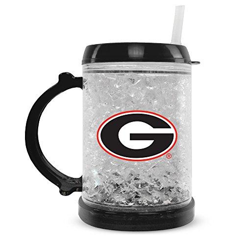Duck House NCAA Georgia Bulldogs 8oz Junior Crystal Freezer Mug with Lid and Straw - Georgia Bulldogs Ncaa Crystal