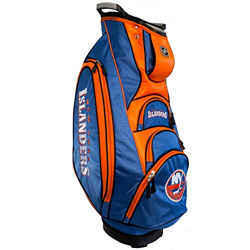 Team Golf NHL New York Islanders Victory Golf Cart Bag, 10-way Top with Integrated Dual Handle & External Putter Well, Cooler Pocket, Padded Strap, Umbrella Holder & Removable Rain Hood ()