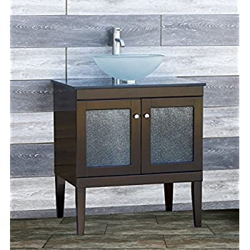this item solid wood bathroom vanity cabinet glass vessel sink faucet mo combo vanities sinks home depot cheap