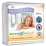 Protect-A-Bed Smooth Mattress Encasement - Waterproof - Twin 6'' (Fits 4'' to 8'' deep)