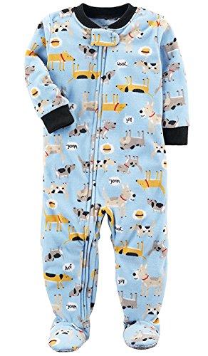 Carters Fleece Blue (Carters Baby Boys 1 Pc Fleece 327g106 (Blue Dogs, 6 Months))