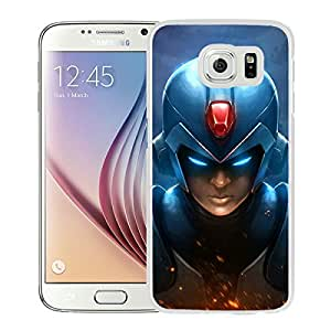 Beautiful Designed Cover Case For Samsung Galaxy S6 With Mega Man White Phone Case