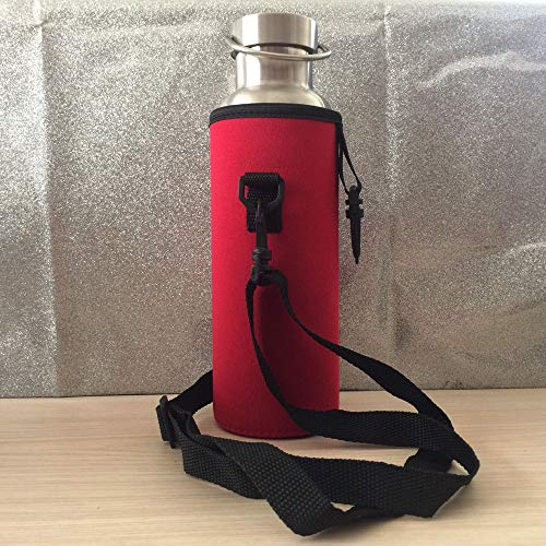 Hot Sale!DEESEE(TM)1000ML Water Bottle Carrier Insulated Cover Bag Holder Strap Pouch Outdoor (Red) ()