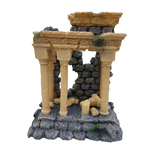 Large Roman Column Arch Ruins Aquarium Ornament