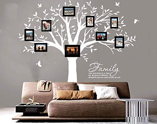 MAFENT Family Tree Wall Decal Quote- Family Like Branches On A Tree Lettering Tree Wall Sticker for Bedroom Decoration (White) by MAFENT (Image #6)