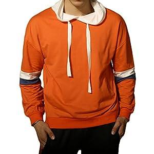 LOGEEYAR Men's Long Sleeve Hoodies Casual Pullover Hooded Sweatshirt Outwear