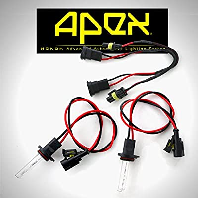 Apex Xenon Two Hid Bulbs ( 1 Pair ) 3000k 5000k 6000k 8000k 10000k 12000k 30000k OEM White Blue Green Yellow All Colors available