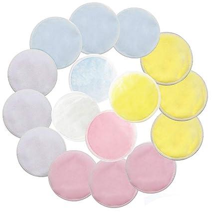 Contever 16 Desmaquillaje Facial Toallas para Cara Reutilizables, Eliminar el Maquillaje con Paños de Limpieza