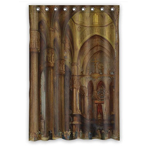 (PILZOO Width X Height / 48 X 72 Inches / W H 120 By 180 Cm Beautiful Scenery Landscape Painting Shower Curtains Polyester Fabric Ornament And Gift To Wife Artwork Kids Boys Family Artwor)