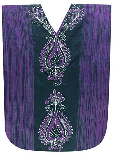 Donne Da Cotone Vestito Batik Leela Notte La Lungo Costumi Beachwear Evevning Usura Caftano Verde Bagno b246 Mano FIxwz0q