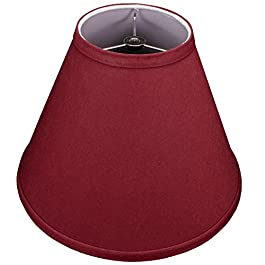 FenchelShades.com Lampshade 5″ Top Diameter x 12″ Bottom Diameter x 9″ Slant Height with Washer (Spider) Attachment for Lamps with a Harp