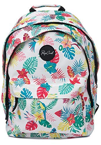 (Rip Curl Double Dome Flora Backpack in White )