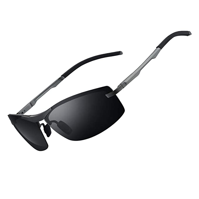 Exklusive Angebote Outlet-Verkauf einzigartiger Stil WHCREAT Herren Autofahren Polarisierte Sonnenbrille Ultraleichter Al-Mg  Metallrahmen mit Federscharnieren