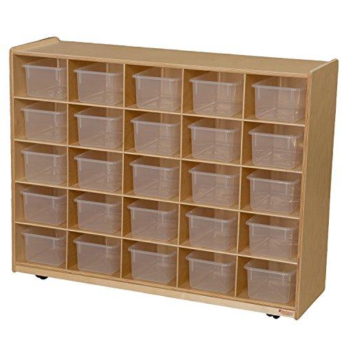 Wood Designs WD16001 (25) Tray Storage with Translucent Trays, 36 x 48 x 15