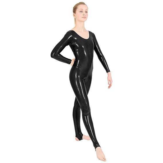 Dance Gear KIRSTIE Women/'s Shiny Metallic One Sleeved Leotard