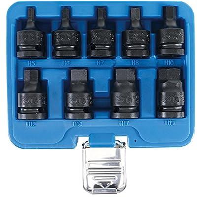 'BGS 5485Force Bits de douilles mâles   12,5mm (1/2)   Six Pans 5–19mm   9pièces