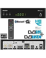 Edision OS Nino Full HD Linux E2 Combo-receiver H.265/HEVC (1x DVB-S2, 1x DVB-T2/C, WLAN onboard, Bluetooth onboard, 2x USB, HDMI, LAN, Linux, kaartlezer) zwart