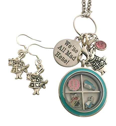 Alice in Wonderland Necklace and Earring Set