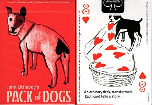 Dog Playing Cards Poker - Artiphany Pack of Dogs Playing Cards Poker Size Deck USPCC Custom Limited Edition