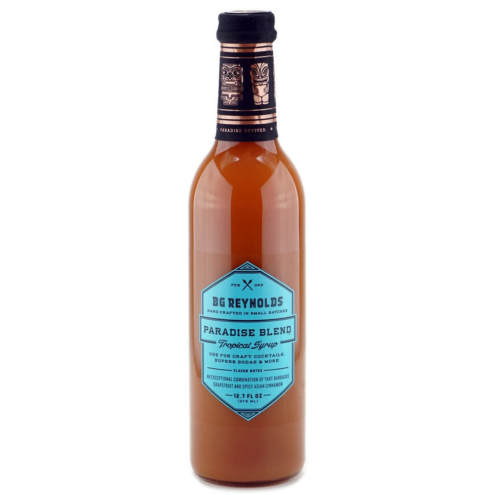 BG Reynolds Paradise Blend Syrup (375ml, 1 Bottle)