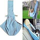 Hangang Pet Carrier Bag, Pet Handbag Small Dog Cat Sling Carrier Bag Travel Comfortable Puppy Shoulder Bag Carry Tote Bags for Dogs Cat Puppy Kitty Rabbit - Maximum Load of 12 pounds (blue)