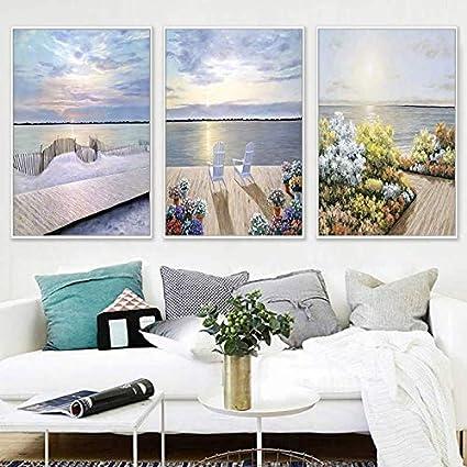 Salon Peinture Décorative Canapé Fond Peinture Murale Murale ...