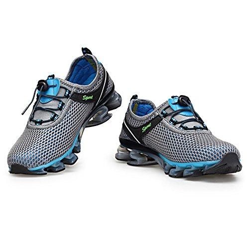 35 47 Ginnastica Sneakers Grigio Blu Uomo Rosa da Casual Sportive KuBua Grigio Interior Running Donna Fitness Scarpe Corsa all'Aperto Marrone FwnTB