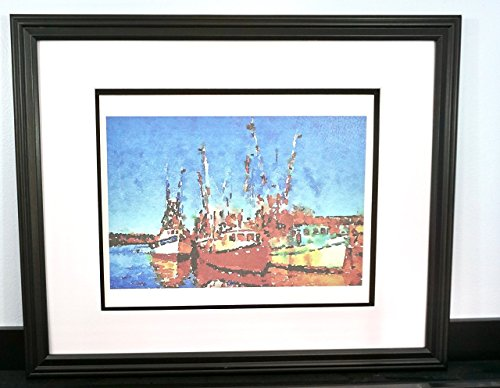 Carolina Shrimp Boats 11x14