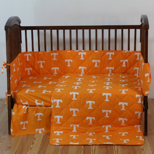 College Covers Tennessee 5 Pc Baby Crib Logo Bedding Set ()