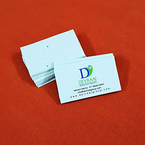 Seed Paper Business Card - Devraaj Eco-friendly White Seed Paper Business Cards 2 X 3.5 inch (250)