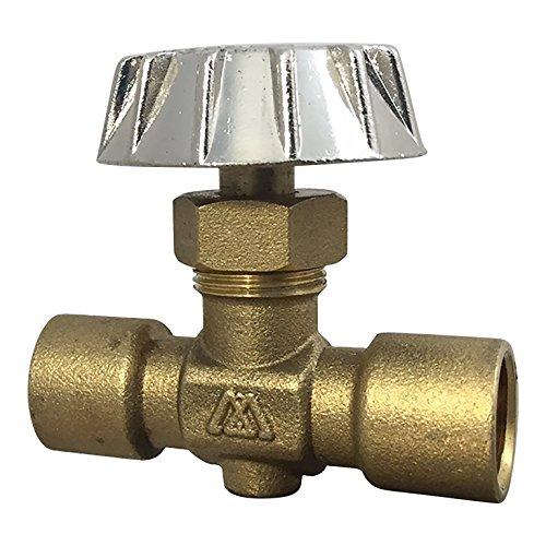 Brass Connector Needle Valve With Canopy Handle FNPT x FNPT [MNV0404] - Válvula de aguja de conector de latón con mango de campana FNPT x FNPT