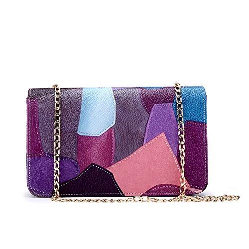 Yiliay Neuheit Fashion PU Leder Tasche Schultertasche Kette Clutch Bag-Gelb 19zaocuv