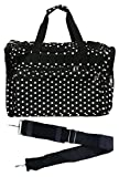 Cheap 19-inch Travel Duffle Bag | Multiple Designs to Choose From | Perfect Travel Size Duffel Bag by Unique Traveler (Polka Dots-Black and White)