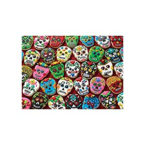 Cobblehill 80144 1000 Pc Sugar Skull Cookies Puzzle Vari