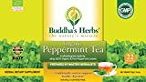 Buddha's Herbs Premium Organic Peppermint Tea – (Pack of Two (44 Tea Bags))