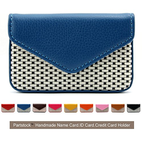 Partstock Multipurpose PU Leather Business Name Card Holder Wallet Leather Credit card ID Case / Holder / Cards Case with Magnetic Shut.Perfect Gift - Blue (Cool Business Card Holder compare prices)