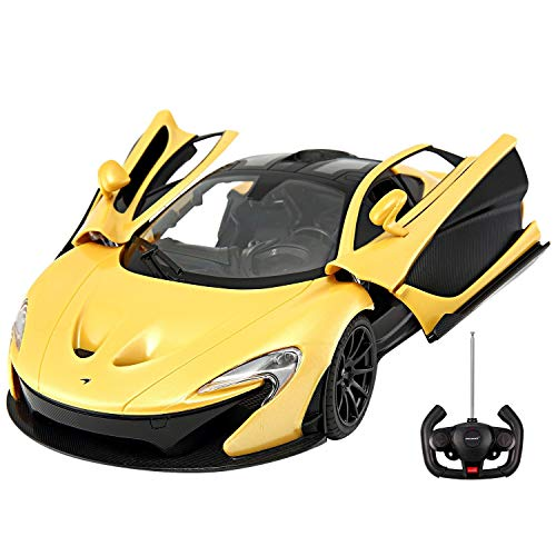 1/14 Scale McLaren P1 Radio Remote Control Model Car R/C RTR Push Button Open Doors (Yellow) (1 18 Mclaren P1 Model Car)