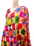 phulkari dupatta multi coloured thread work embroidered dupatta - phulkari bagh style from punjab