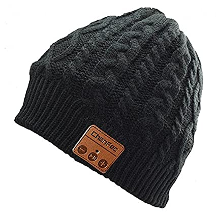 4d3d39372cf Amazon.com  Alpeft Winter Warm Beanie hat Wireless Bluetooth Smart Music  mp3 Cap Headphone Headset Speaker mic Magic Sport Knitted Hats  Home Audio    ...
