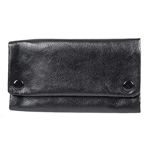 Portable Hookah Cigarette Tobacco Pouch Case Wallet Rolling Paper Holder (Black) (Hookah Portable Cigarette)