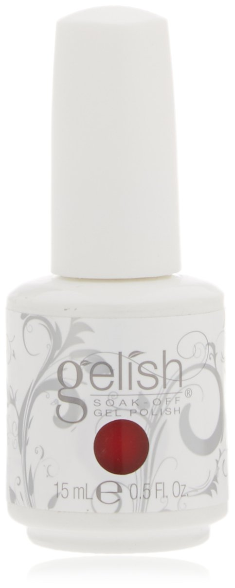 Gelish Harmony Scandalous Nail Gel, Hot Red Creme Harmony Gelish 01079