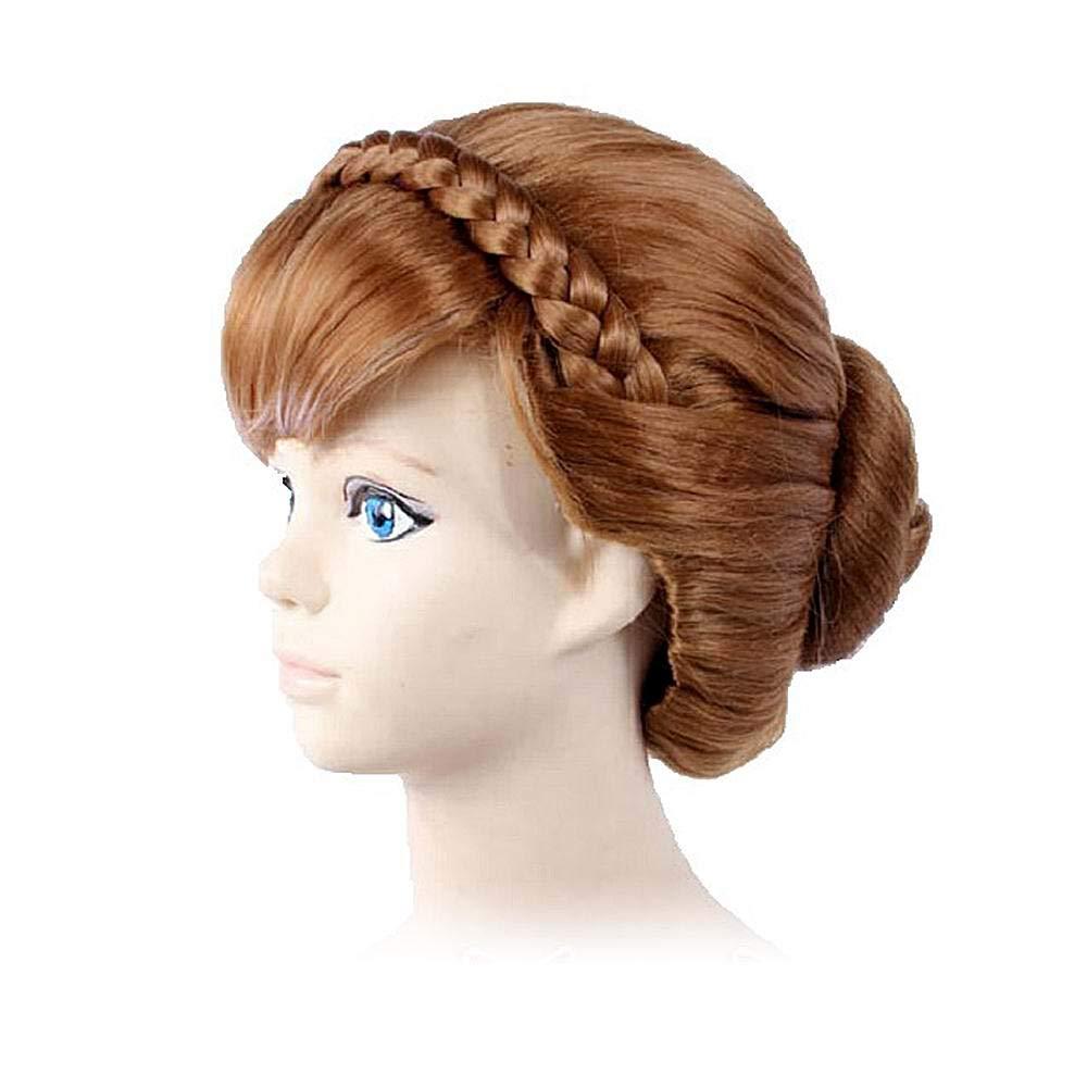 Amazon Com Gooaction Women Adult Short Brown Braid Updo Bun Wig