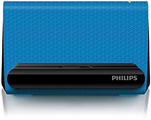 Philips SBA1710 Prism Portable Smartphone Speaker Cradle with 3.5mm Auxiliary Cable (Blue SBA1710BLU) -
