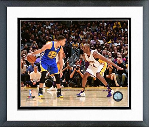 Stephen Curry Golden State Warriors& Kobe Bryant LA Lakers 2015-2016 NBA Action Photo (Size: 12.5