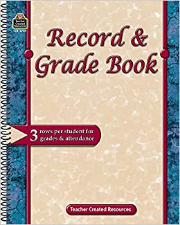 record grade book teacher created resources staff 9781420647099